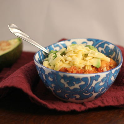 Vegetarian Chili with Quinoa and Beans