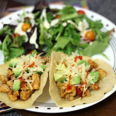 Vegetarian Tacos Made 3 Ways