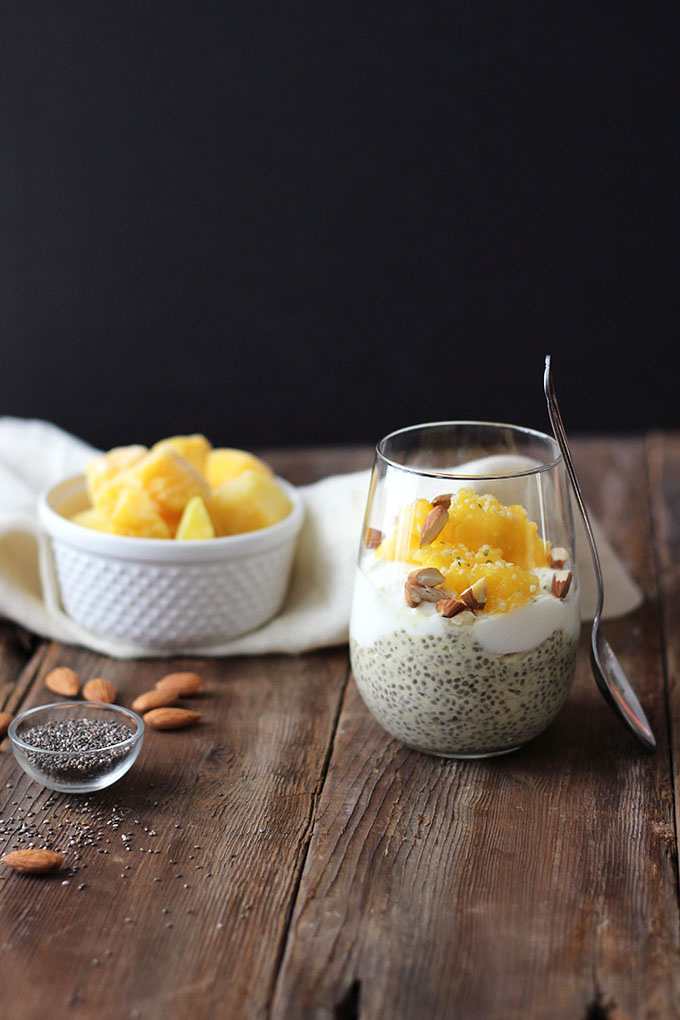 Mango Chia Breakfast Pudding | Dietitian Debbie Dishes