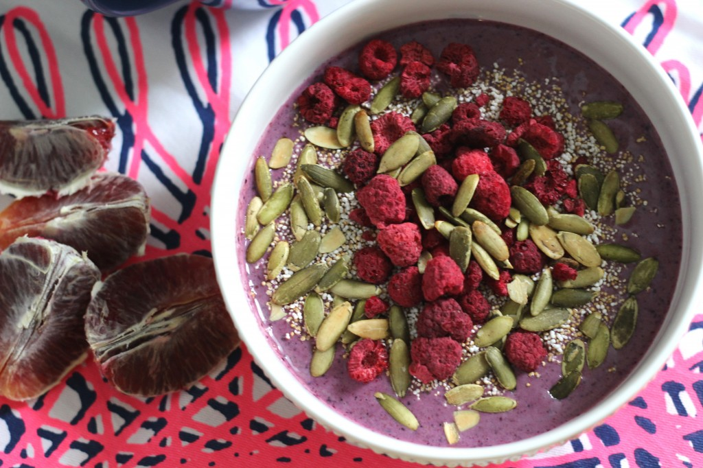 Berry smoothie in a bowl
