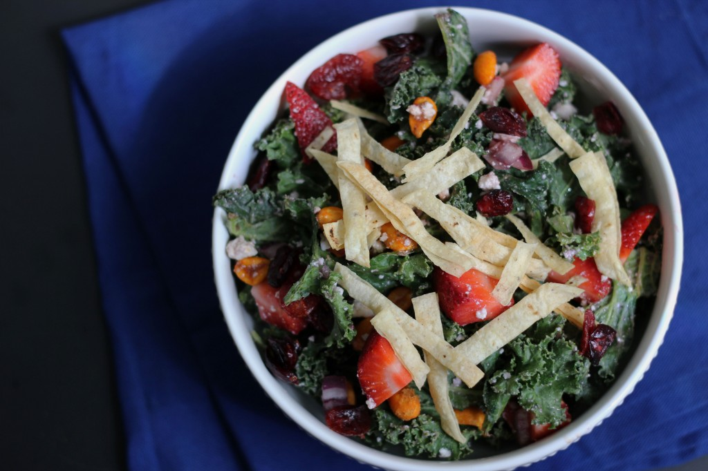 Strawberry Kale Salad | Dietitian Debbie Dishes