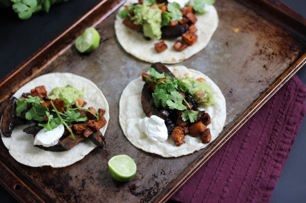 Marinated Mushroom Tacos | Dietitian Debbie Dishes