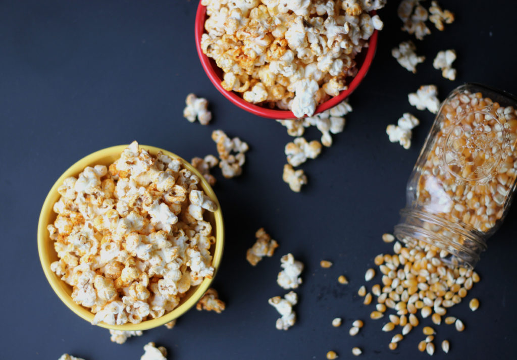 Smoky Chili Popcorn | Dietitian Debbie Dishes