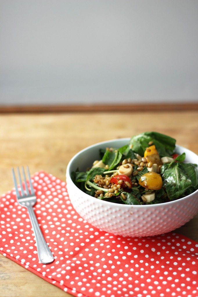 Farro, Arugula, and Balsamic Salad | Dietitian Debbie Dishes