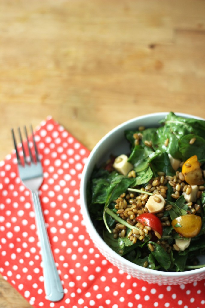 Farro, Arugula, and Balsamic Salad