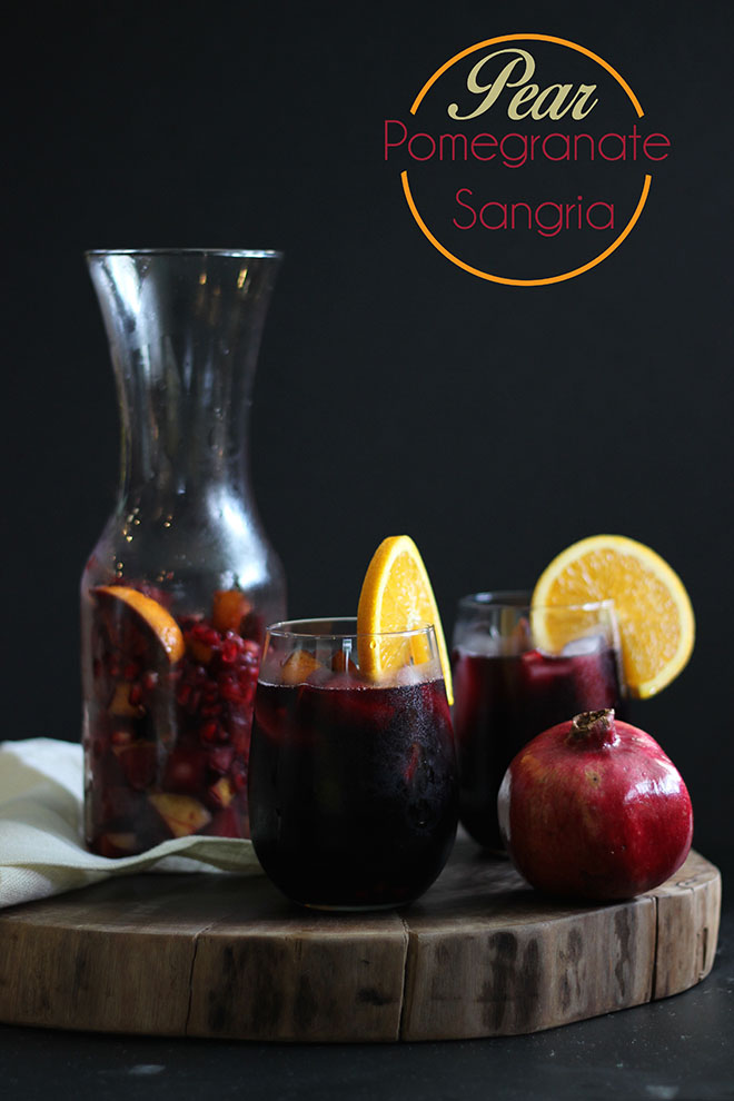 Pear Pomegranate Sangria