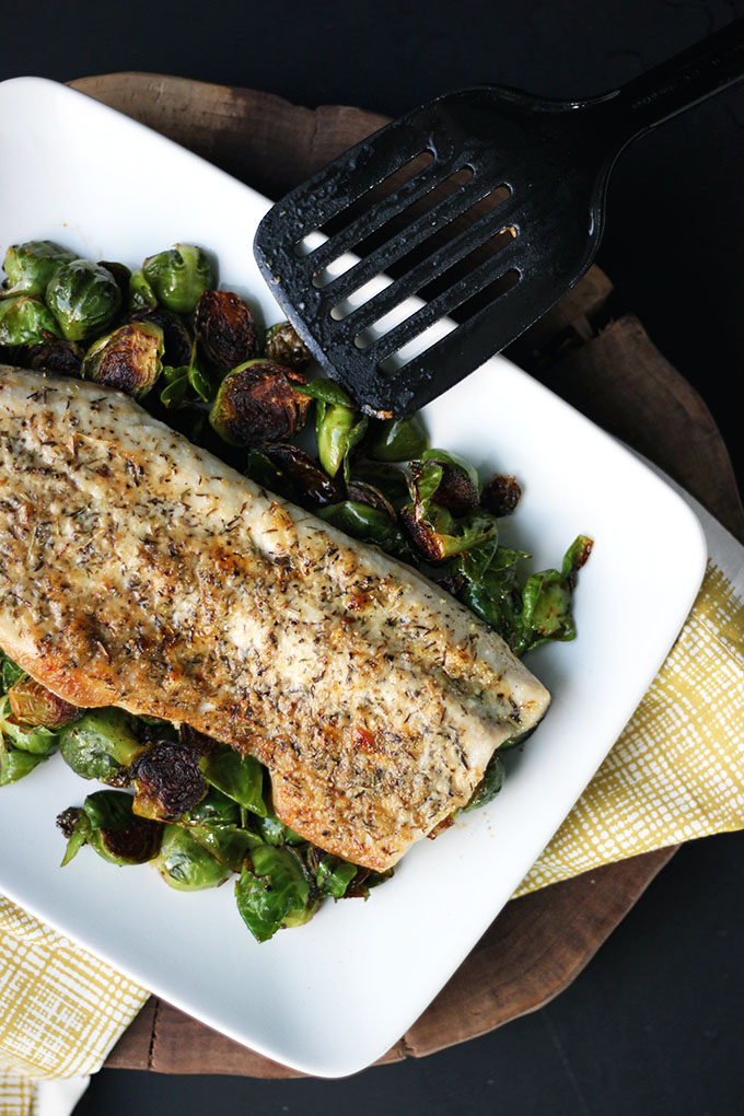 Parmesan and Herb Crusted Fish | Dietitian Debbie Dishes