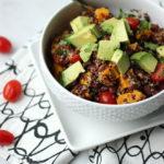 Southwest Quinoa Salad w/Roasted Butternut Squash | Dietitian Debbie Dishes