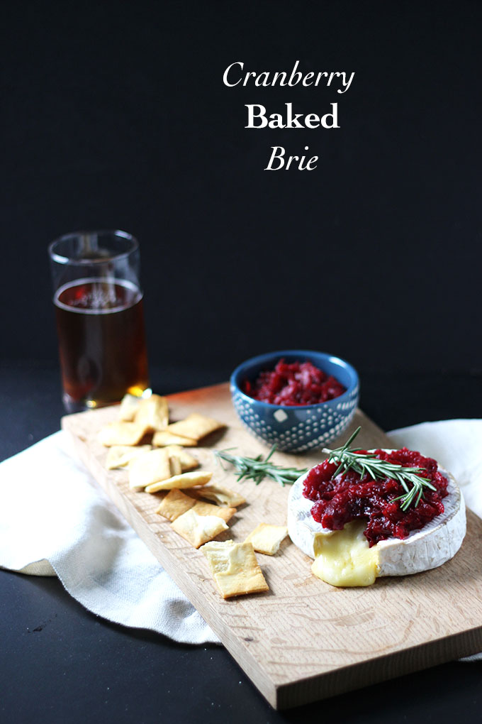 Cranberry Baked Brie | Dietitian Debbie Dishes