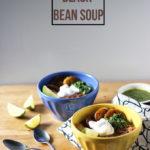 Spicy Black Bean Soup | Dietitian Debbie Dishes