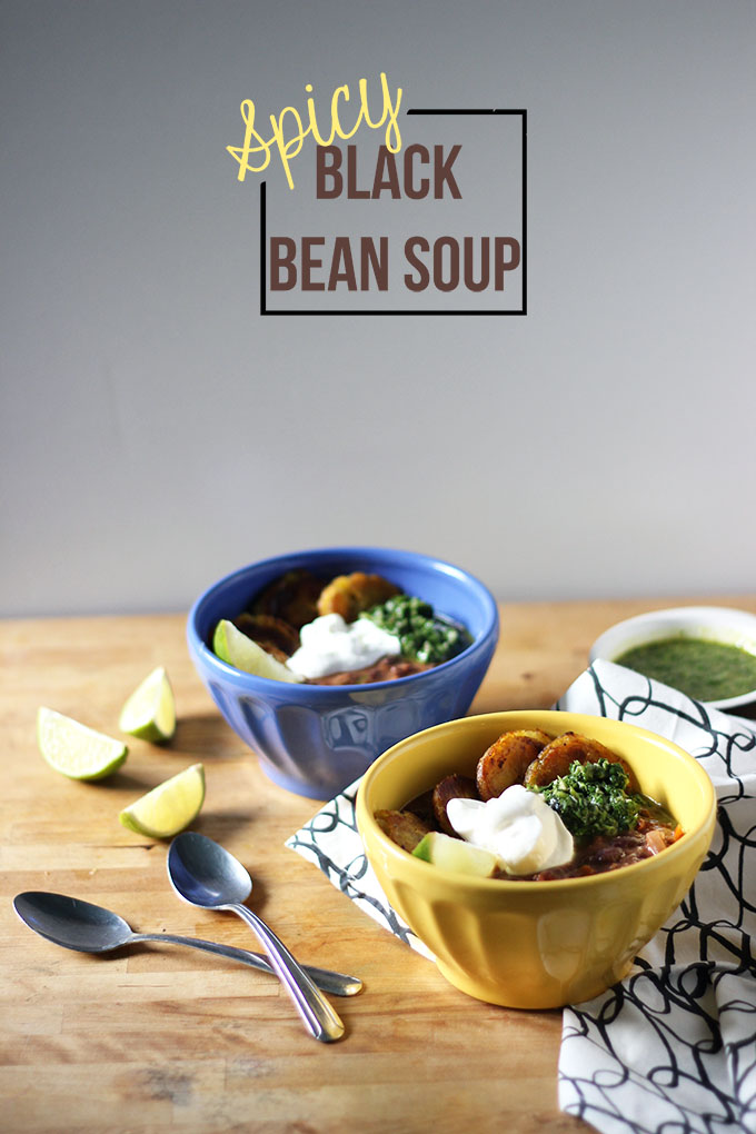 Spicy Black Bean Soup | Dietitian Debbie Dishes