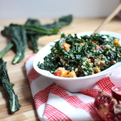 Buckwheat Kale Salad with Citrus Yogurt Dressing