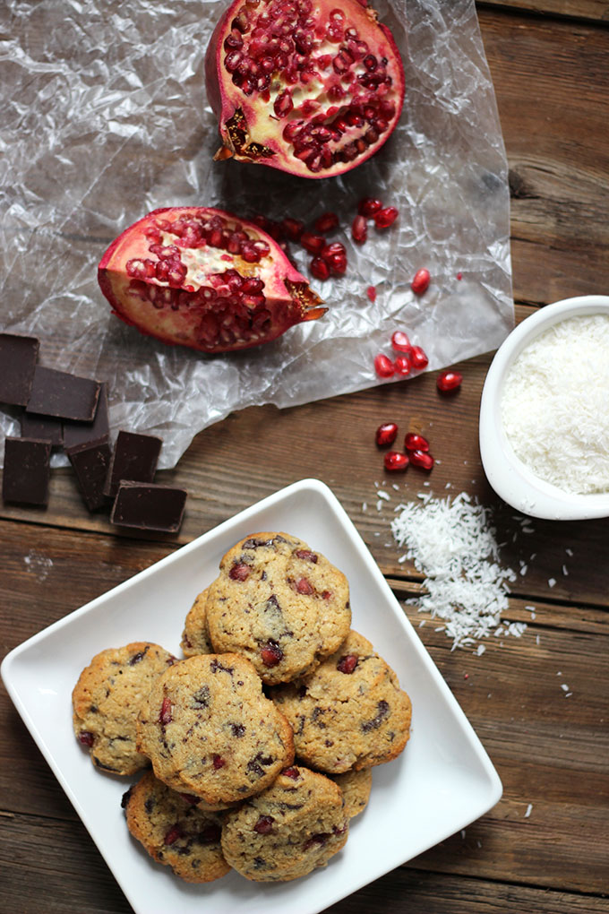 Pomegranate Dark Chocolate Cookies | Dietitian Debbie Dishes