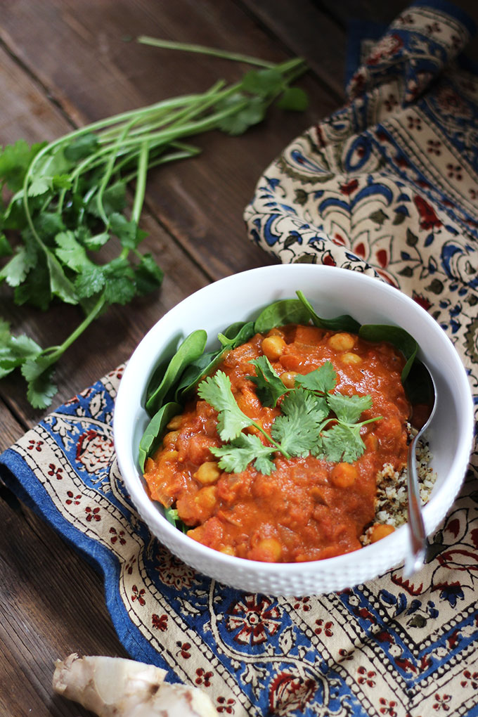 Vegan Chickpea Chana Masala | Dietitian Debbie Dishes