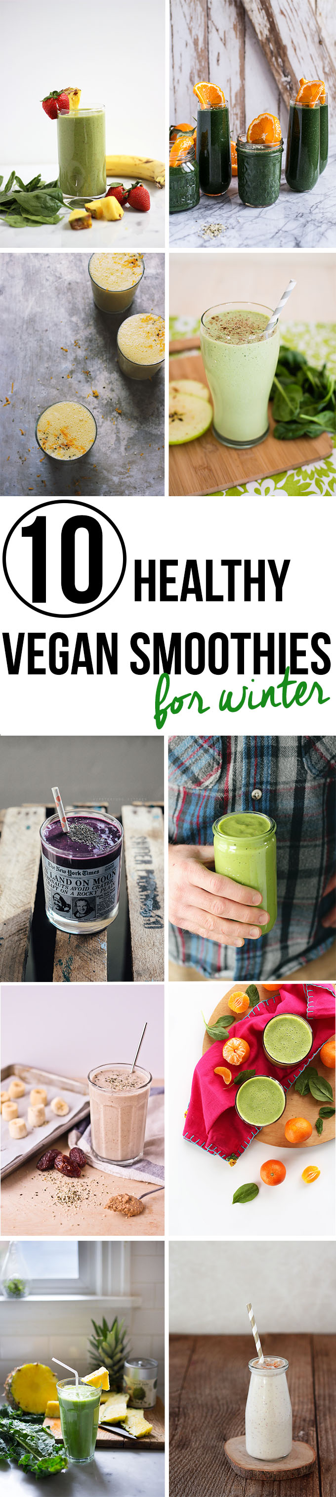 #Healthy #Vegan Smoothies Perfect for Winter