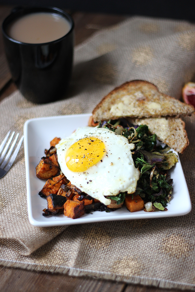 Greens and Sweet Potato Hash