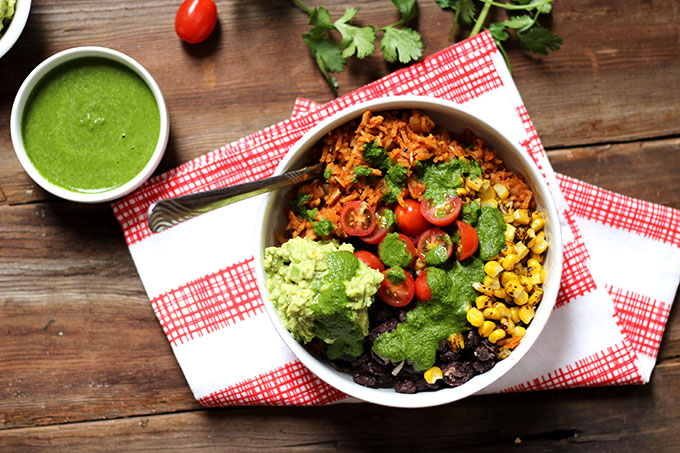 Vegan and Gluten Free Burrito Bowl | Dietitian Debbie Dishes