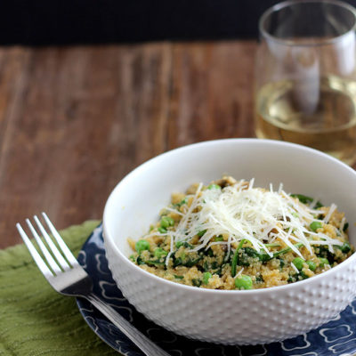 Spring Quinoa Risotto