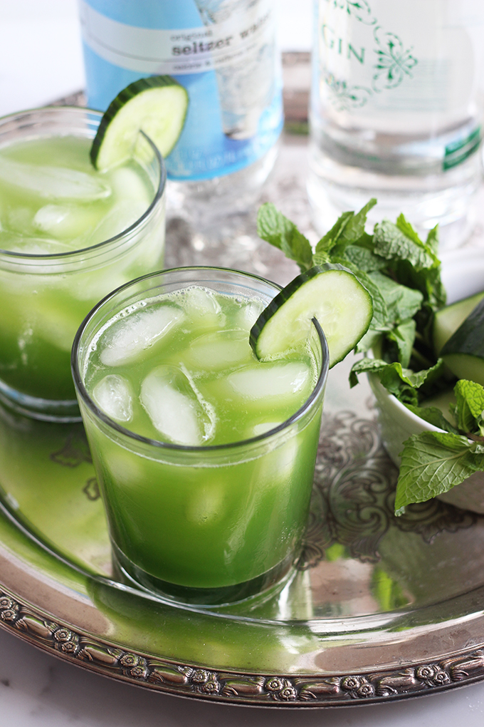 Skinny Cucumber Mint Cocktail | Dietitian Debbie