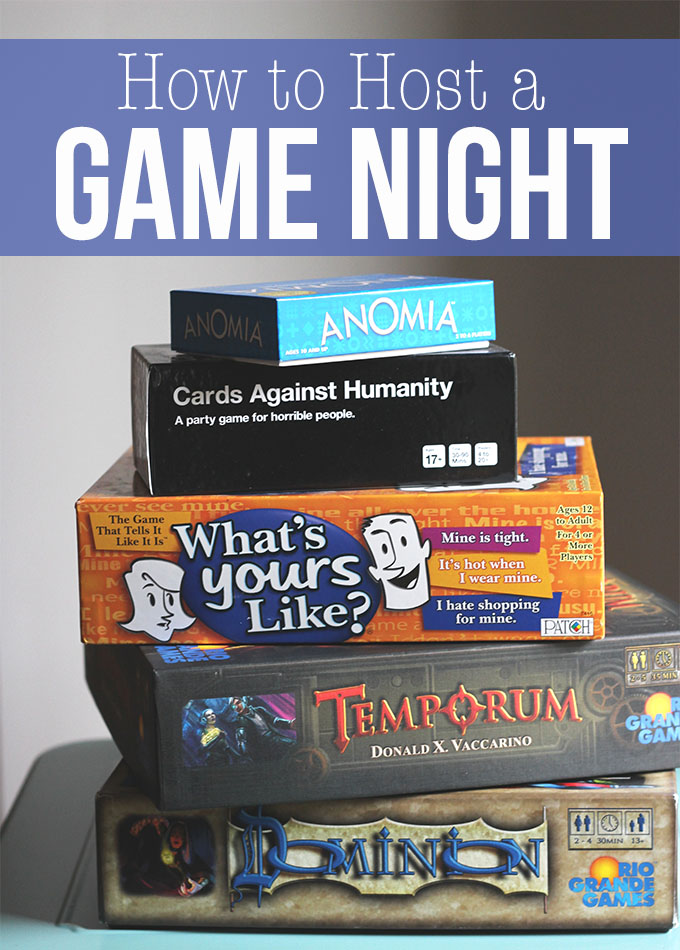 How to Host a Game Night | Dietitian Debbie
