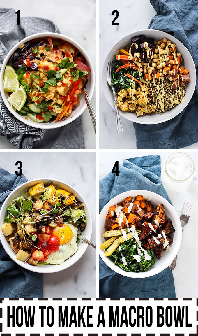 How to Make a Macro Bowl | Learn how to implement this simple method for putting together balanced meals. #healthy