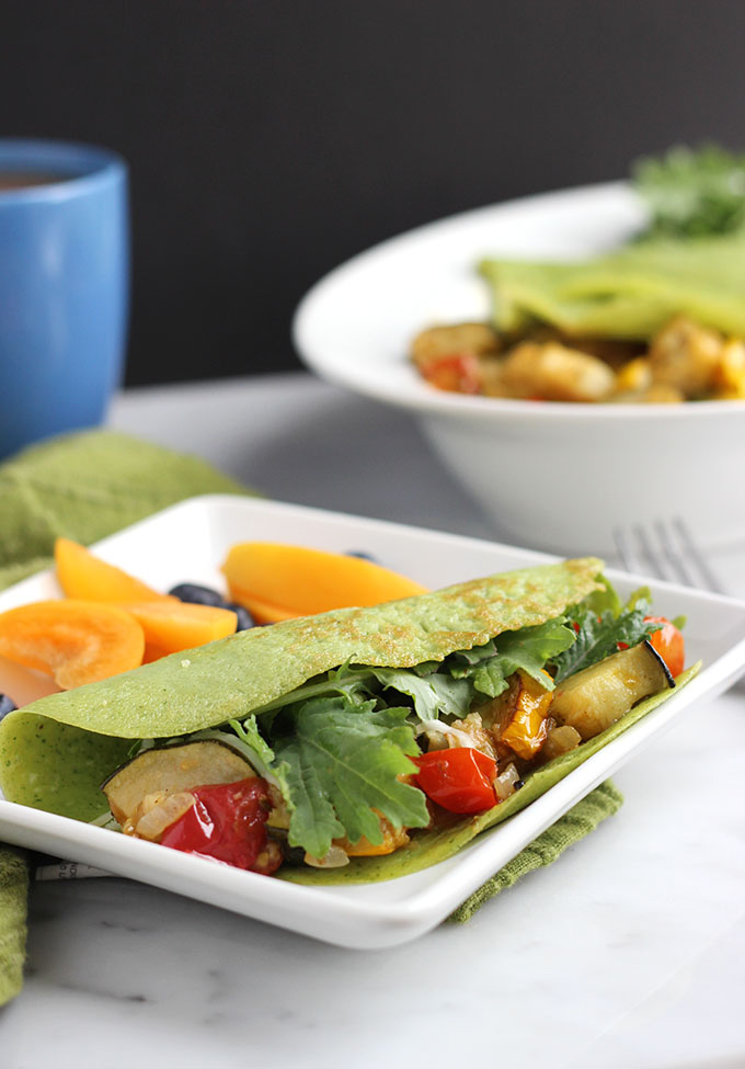 Summer Vegetable Crepes | Dietitian Debbie Dishes