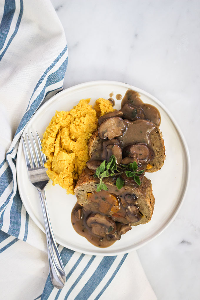 Vegan Stuffed Seitan Roast