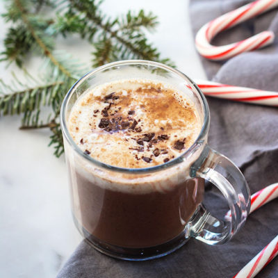 Spiked Vegan Hot Chocolate