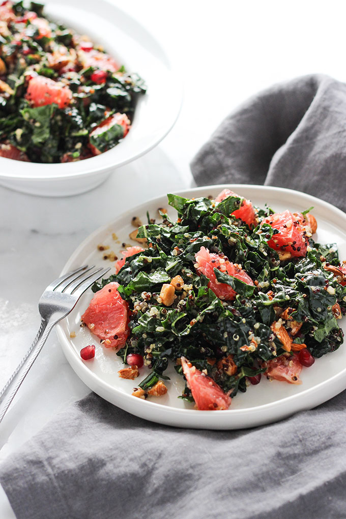 Grapefruit Kale Salad | Gluten Free, Vegan