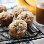 Coconut Banana Chocolate Chip Muffins | Vegan