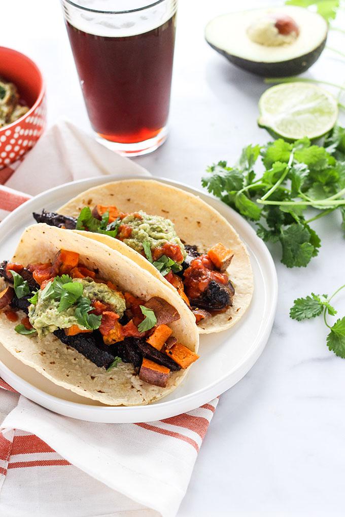 Vegan Marinated Mushroom Tacos