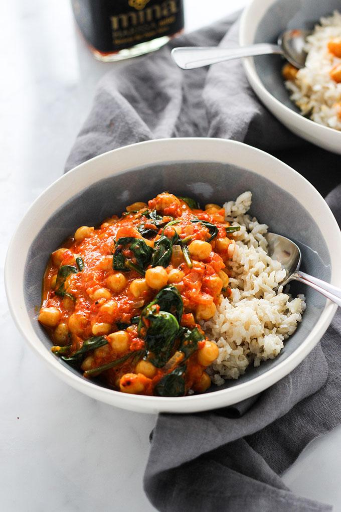 Red Pepper Chickpea Curry | Gluten Free, Vegan