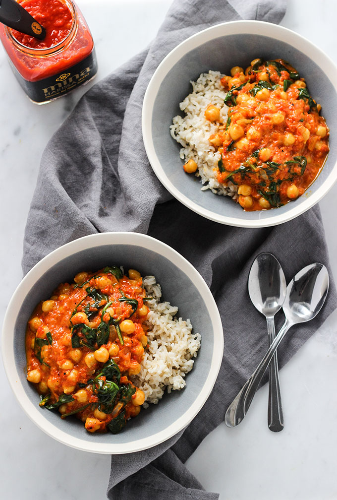 Red Pepper Chickpea Curry | Vegan, Gluten Free
