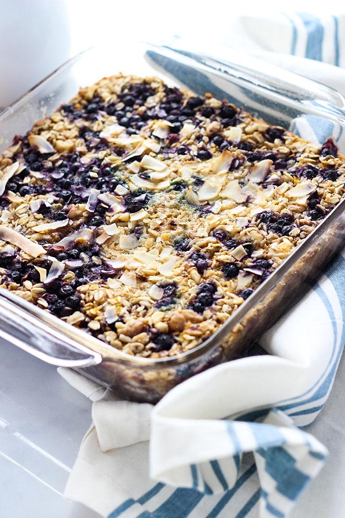 Vegan Lemon Blueberry Baked Oatmeal 2