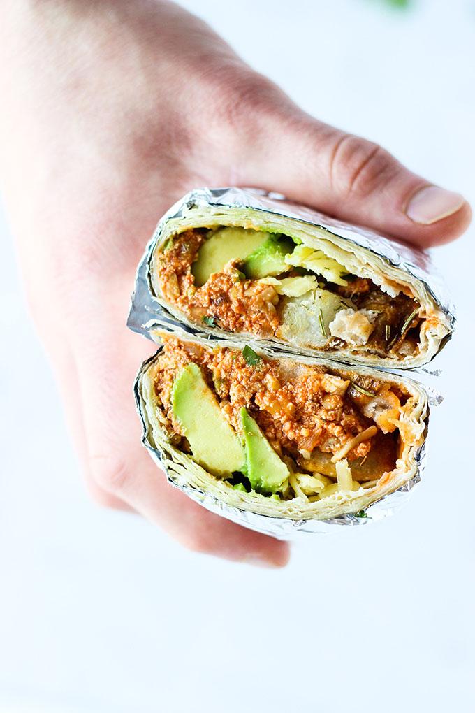 Vegan Mexican Breakfast Scramble Burrito
