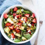 Strawberry Avocado Salad with Pistachios and Goat Cheese