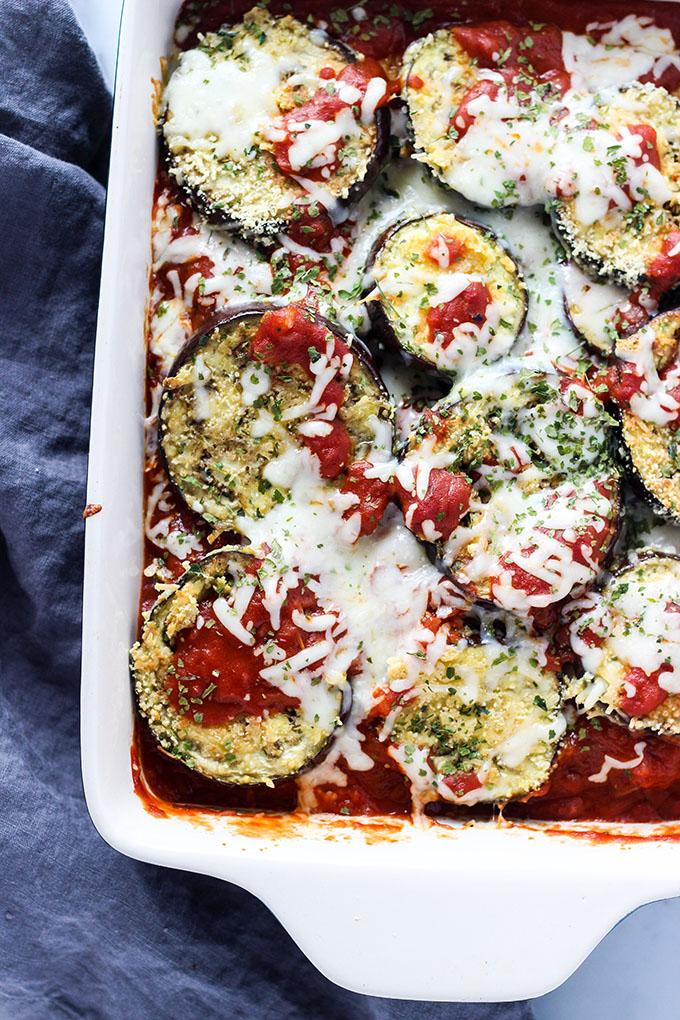 Simple Gluten Free Eggplant Parmesan 3