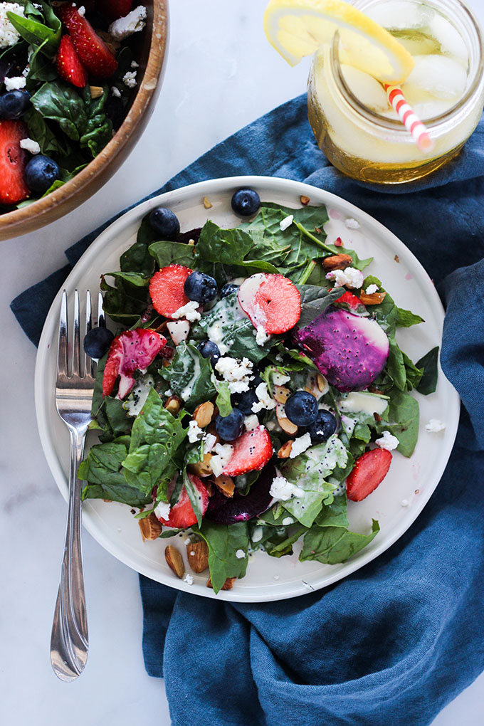 Berry and Beet Salad with Poppyseed Dressing