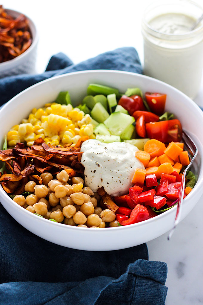 Vegan Cobb Salad with Cashew Dill Dressing