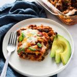 Walnut Mushroom Stacked Enchiladas   Vegetarian   #Sponsored