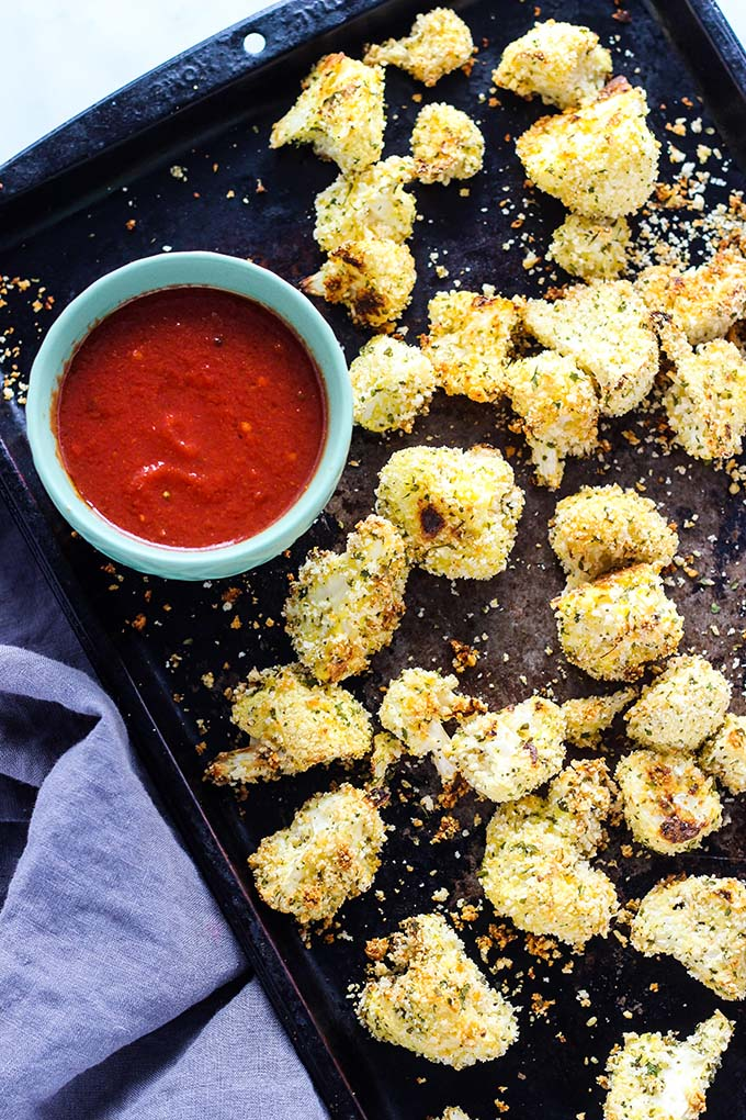 Baked Parmesan Crusted Cauliflower