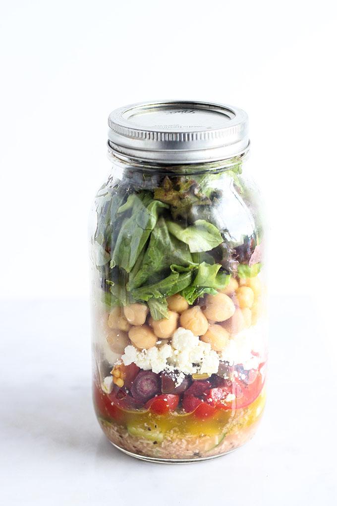 Mediterranean Salad in a Jar