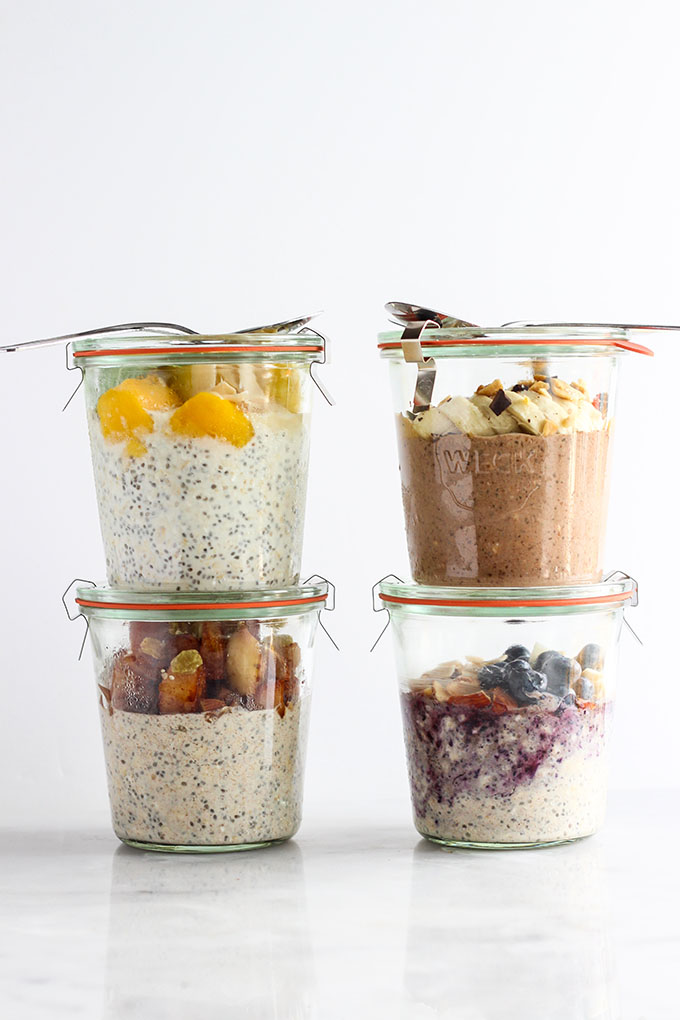 Overnight Oats 4 Different Ways | A Healthy Breakfast