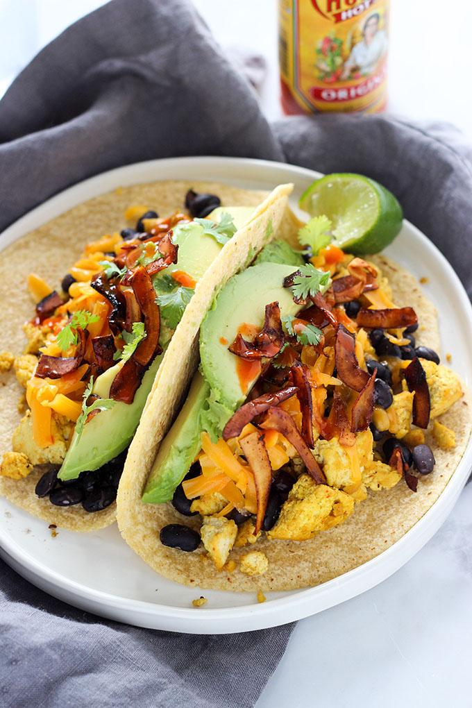 Tofu Breakfast Tacos with Coconut Bacon 2