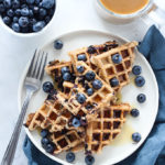 Vegan Whole Wheat Blueberry Waffles