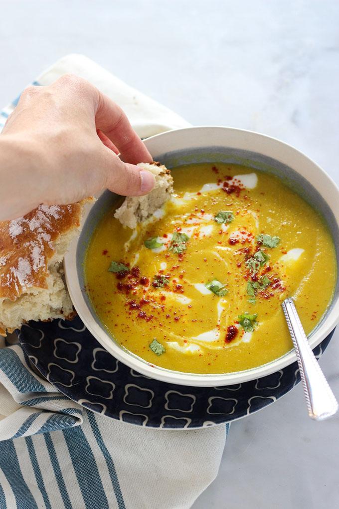 Vegan Curry Summer Squash Soup