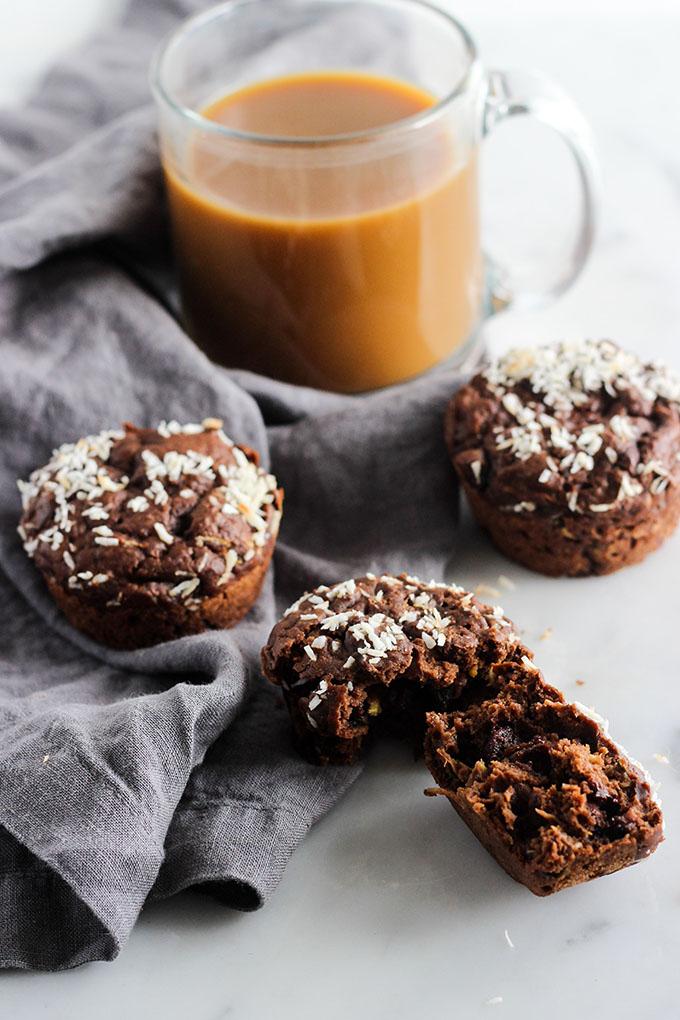 Vegan Double Chocolate Zucchini Muffins 3