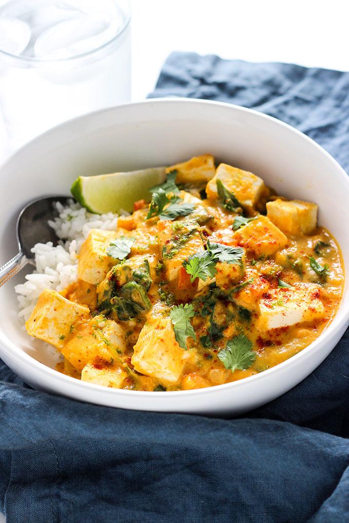 Easy Tofu Pumpkin Curry | Vegan, Vegetarian, 30 Minutes or Less