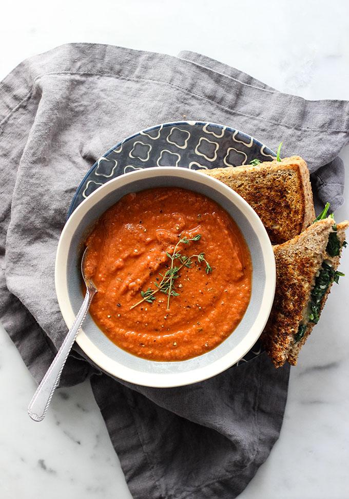 Tomato White Bean Soup   Vegan, Vegetarian