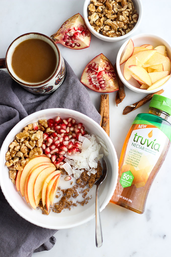 #AD - Chai Spiced Oatmeal sweetened with Truvia Nectar